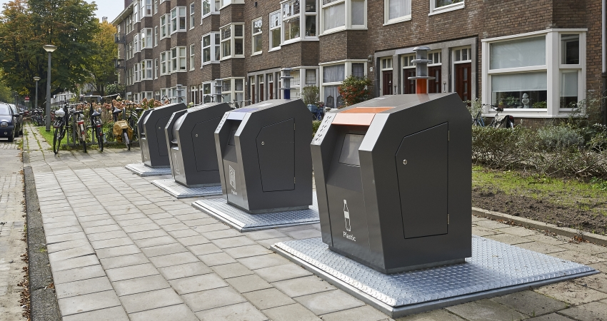 Ondergrondse containers in Amsterdam, VConsyst