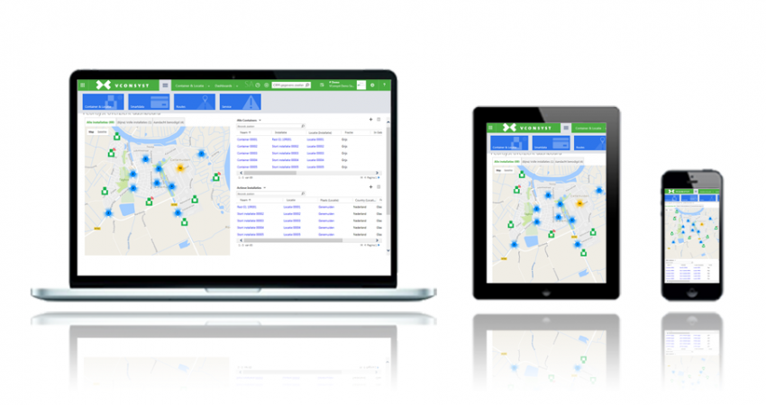 VConsyst Dynamics dashboard devices